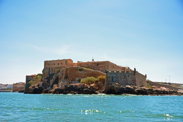Our first glimpse of Rabat's kasbah, which is situated at the mouth of the river.