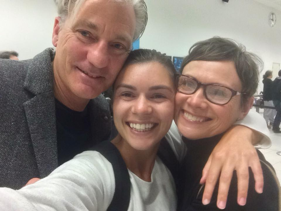 Selfie of me and my parents at the airport after 2 years apart!